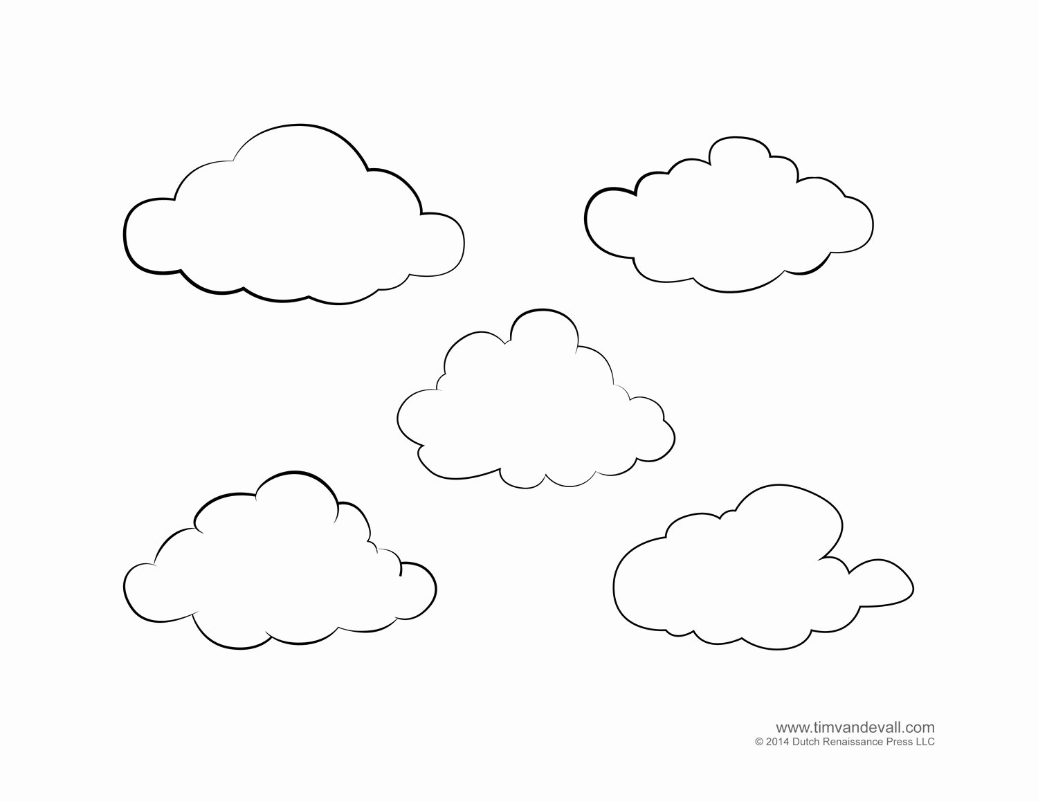 Cloud Template Printable Lovely Weather for Kids