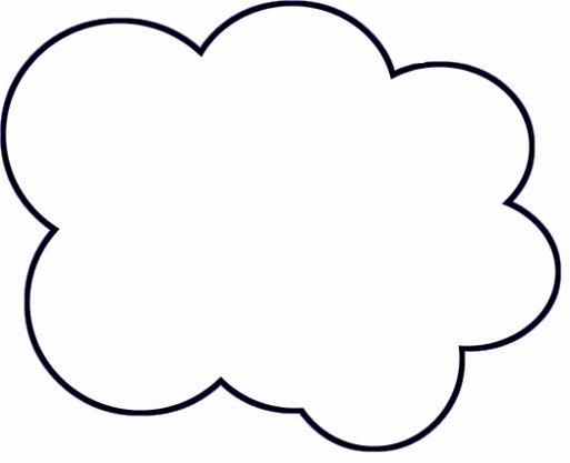 Cloud Template Printable New Diy Paper Cloud Mobile Tutorial