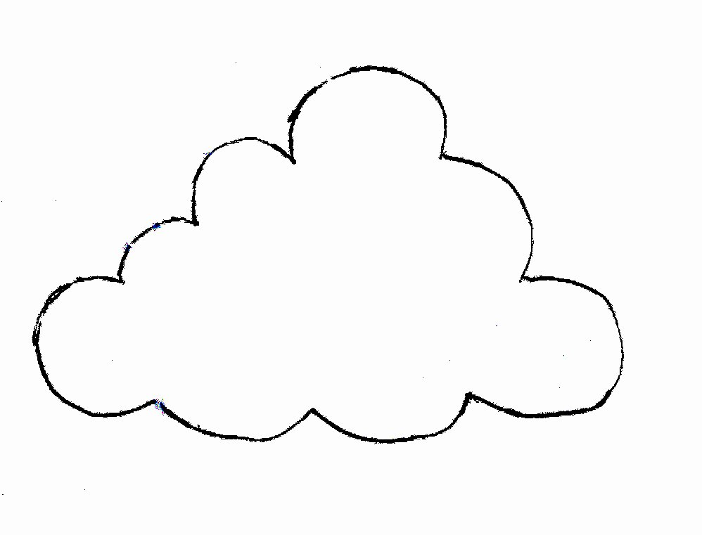 Cloud Template Printable New Printable Cloud Template Cliparts