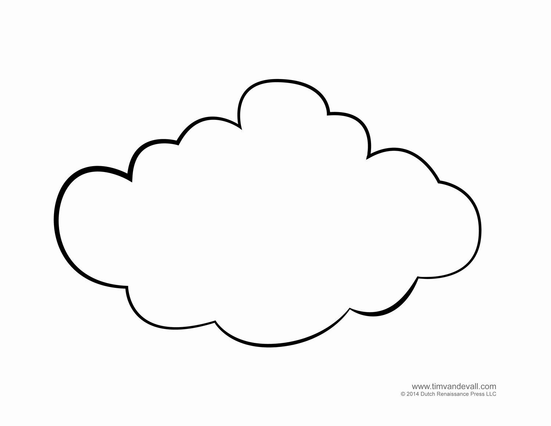 Cloud Template Printable Unique Cloud Template
