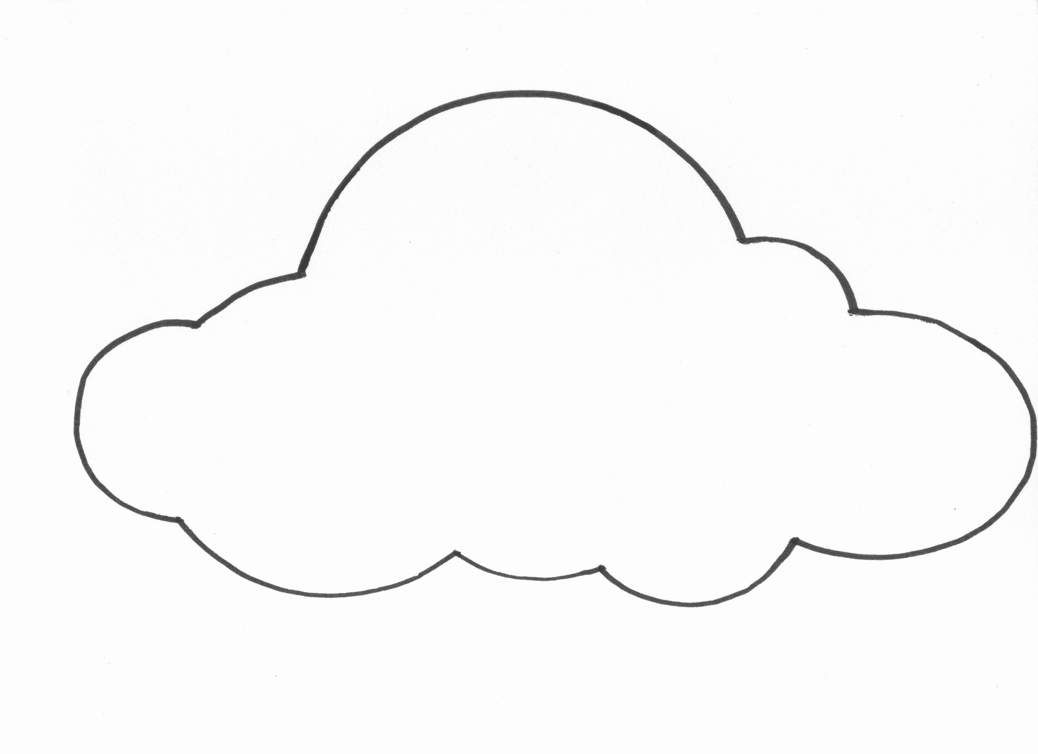 Cloud Template Printable Unique Free Printable Cloud Template Download Free Clip Art