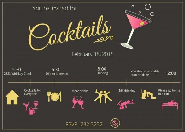 Cocktail Party Invite Templates Beautiful 21 Cocktail Party Invitations Psd Vector Eps Jpg