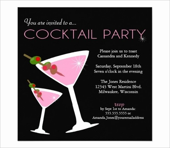 Cocktail Party Invite Templates Best Of Cocktail Invitation Template Cobypic