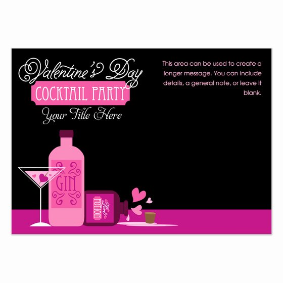 Cocktail Party Invite Templates Elegant Valentine S Day Cocktail Party Invitations & Cards On