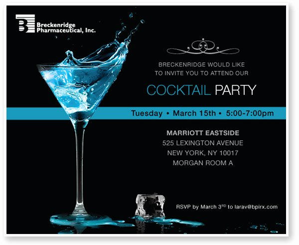 Cocktail Party Invite Templates Inspirational Custom Corporate event Ecards and Electronic Invitations