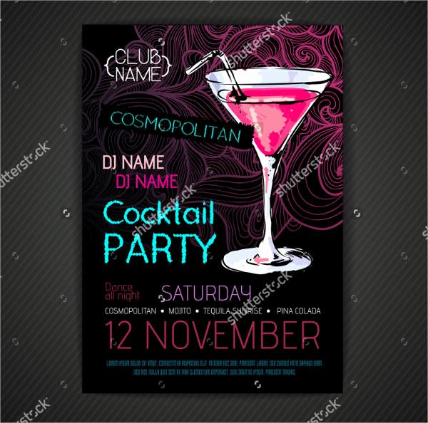 Cocktail Party Invite Templates Luxury 46 Printable Party Invitation Templates Psd Ai