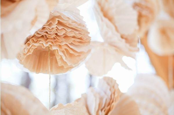 Coffee Filter Flowers Martha Stewart Elegant Paper Wedding Easy Diy Paper Backdrops