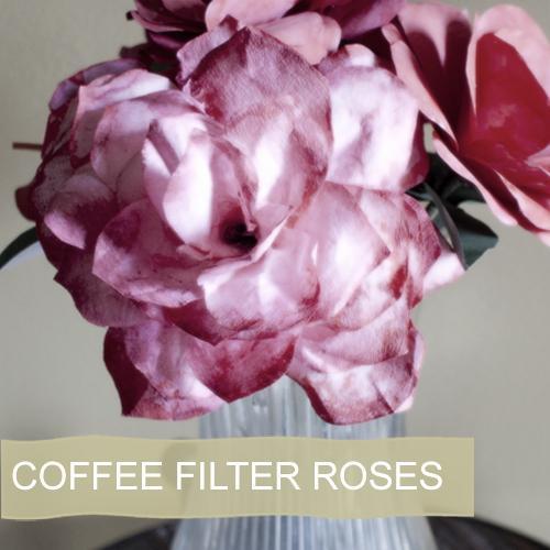 Coffee Filter Flowers Martha Stewart Fresh Coffee Filter Rose Tutorial