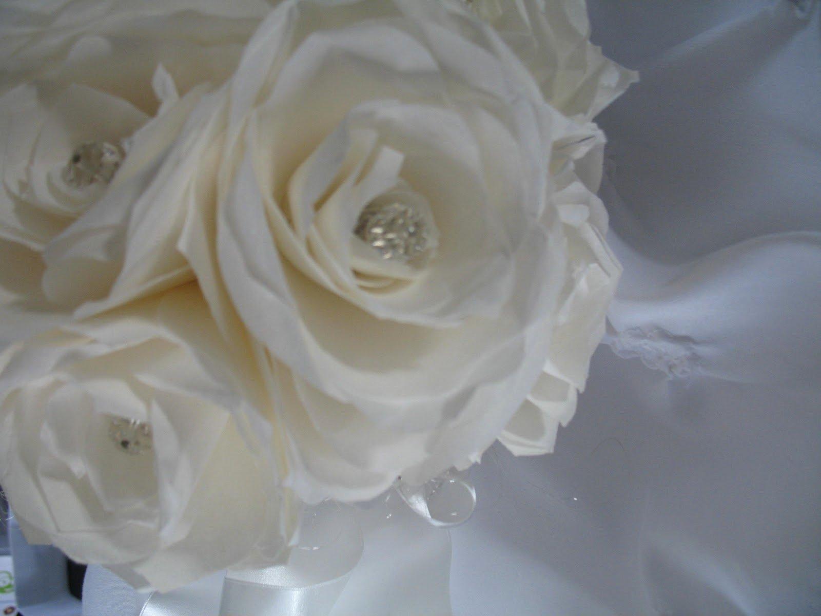 Coffee Filter Flowers Martha Stewart Fresh Zoe Bean Design White Rose Bouquet