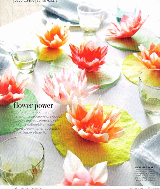 Coffee Filter Flowers Martha Stewart New Digital Nicole Scrapbooking Coffee Filter Water Lily
