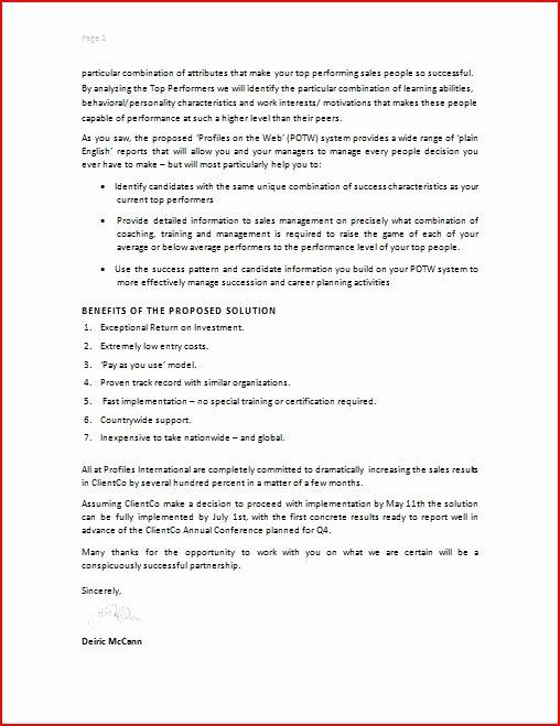 Collaboration Proposal Sample Inspirational Free Printable Business Proposal form Generic