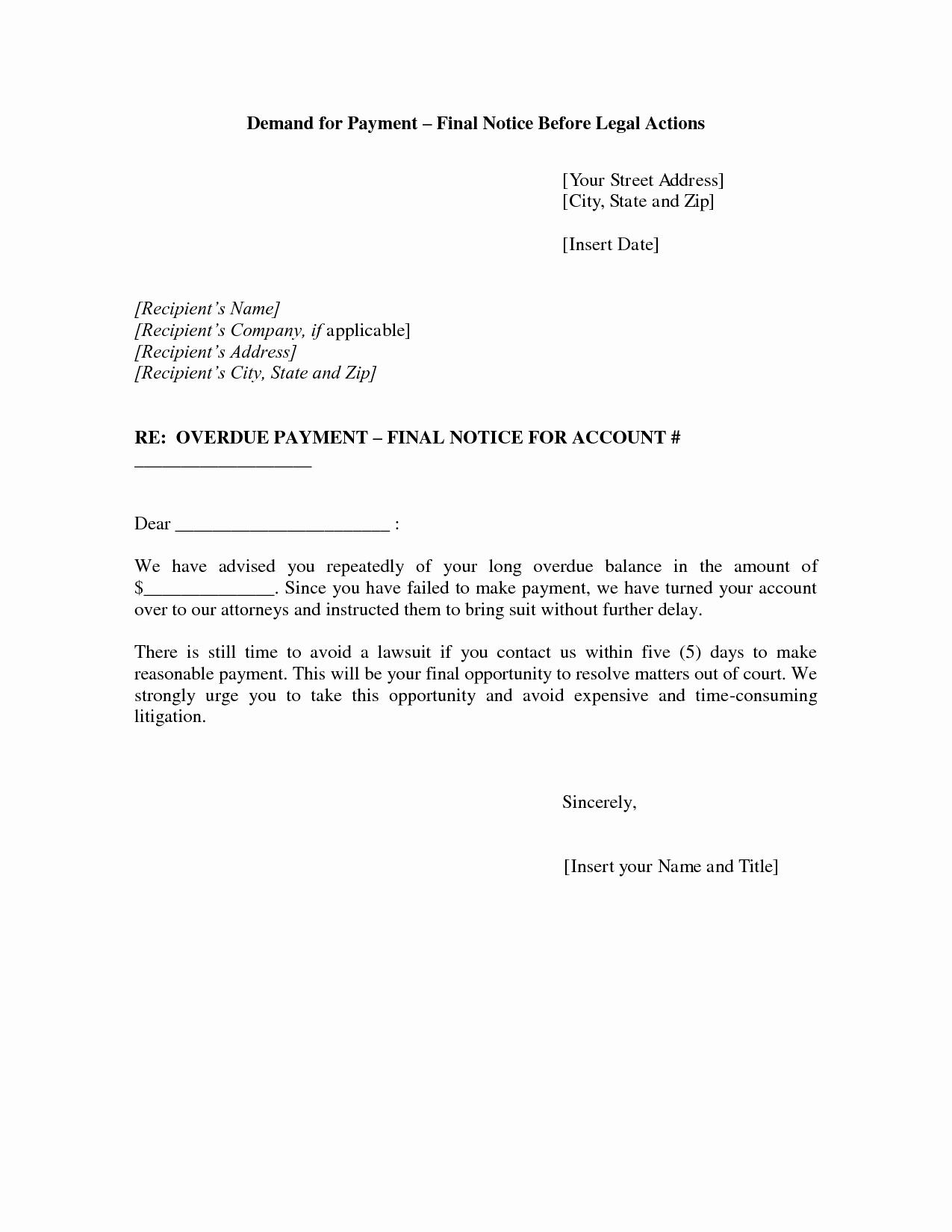 post final notice letter