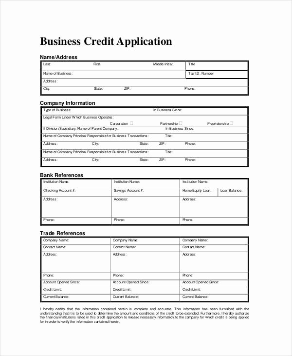 Commercial Credit Application Best Of Business forms 8 Free Word Pdf Documents Download