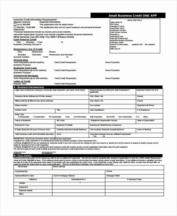 Commercial Credit Application Fresh 21 Free Credit Application forms