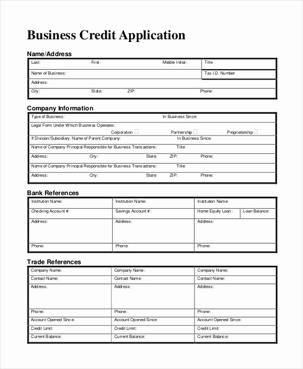 Commercial Credit Application Luxury Sample Business form 11 Free Documents In Doc Pdf