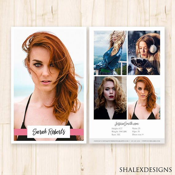 Comp Card Template Psd Download Awesome Modeling P Card Template Model P Card Fashion