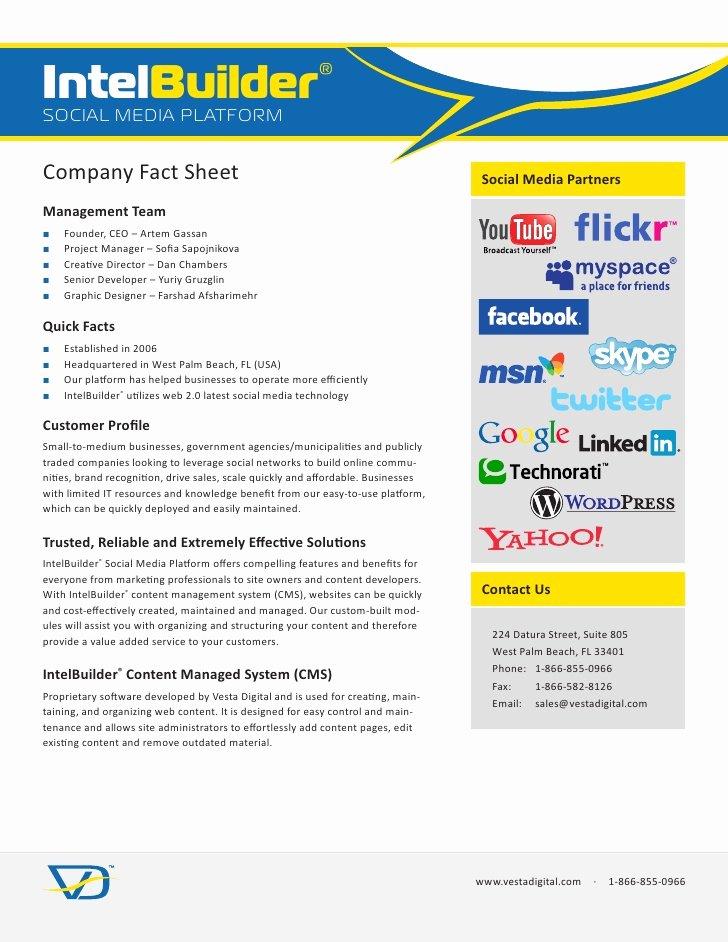 intelbuilder social media platform pany fact sheet