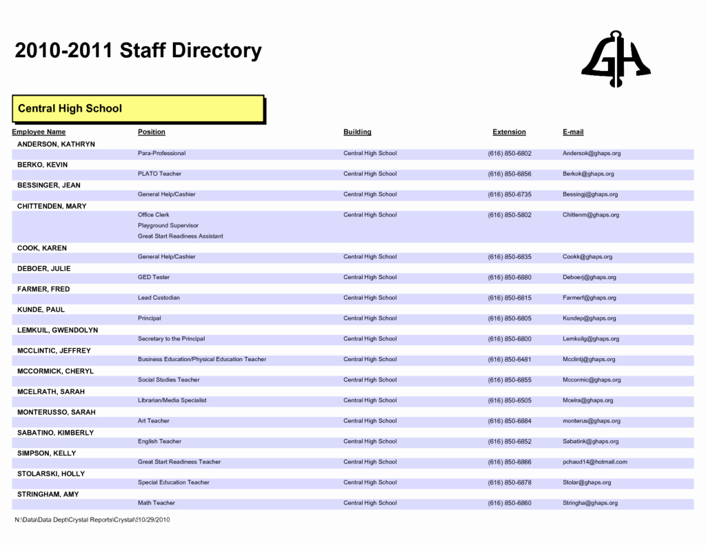 28 images of staff phone list template 407