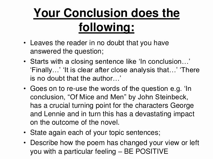 conclusion example for essay