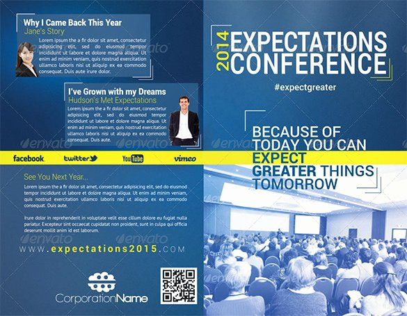 Conference Program Booklet Template Lovely 19 Conference Brochure Templates Free Psd Eps Ai