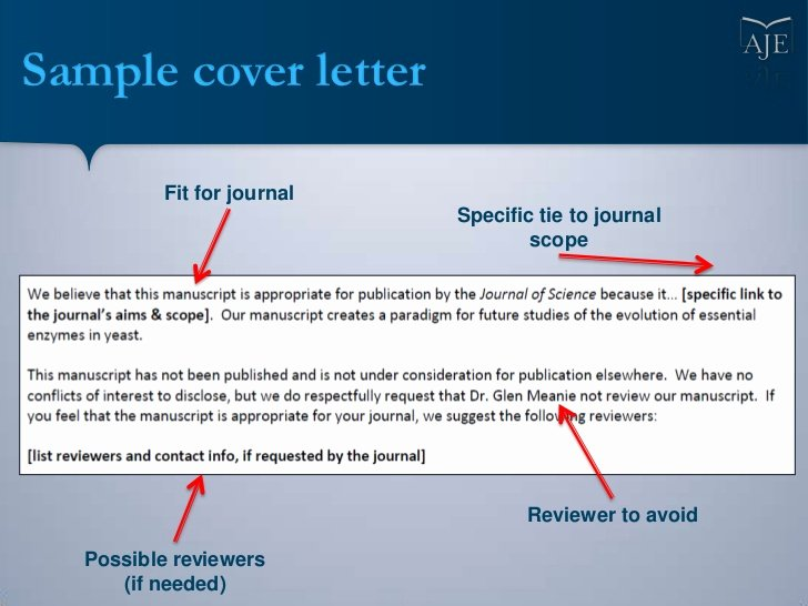 Conflict Of Interest Letter Beautiful Writing A Cover Letter for Your Scientific Manuscript