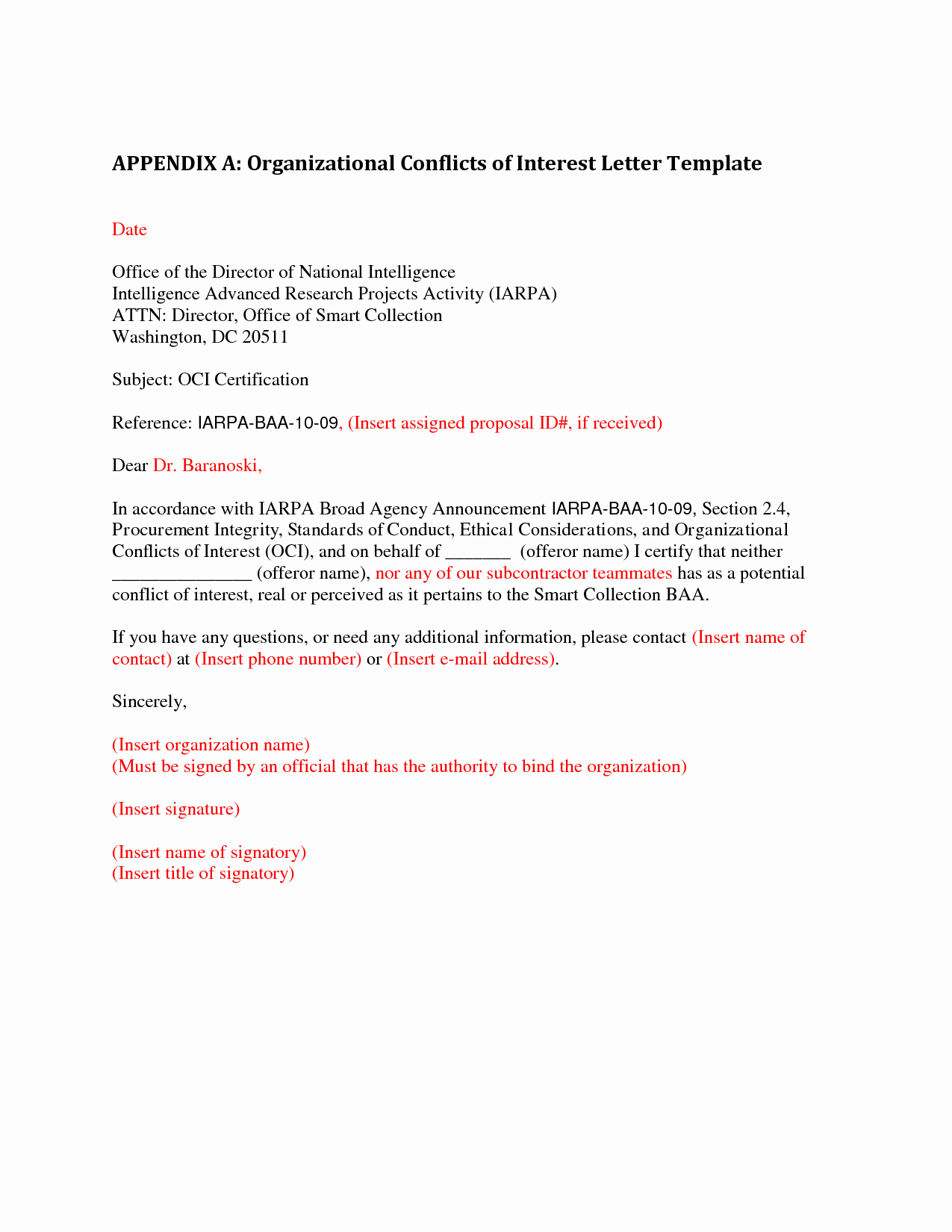 Conflict Of Interest Letter Inspirational Best S Of Letter Interest Template Microsoft