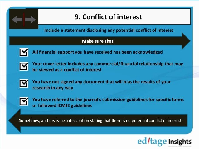 Conflict Of Interest Letter Inspirational Manuscript Submission Checklist