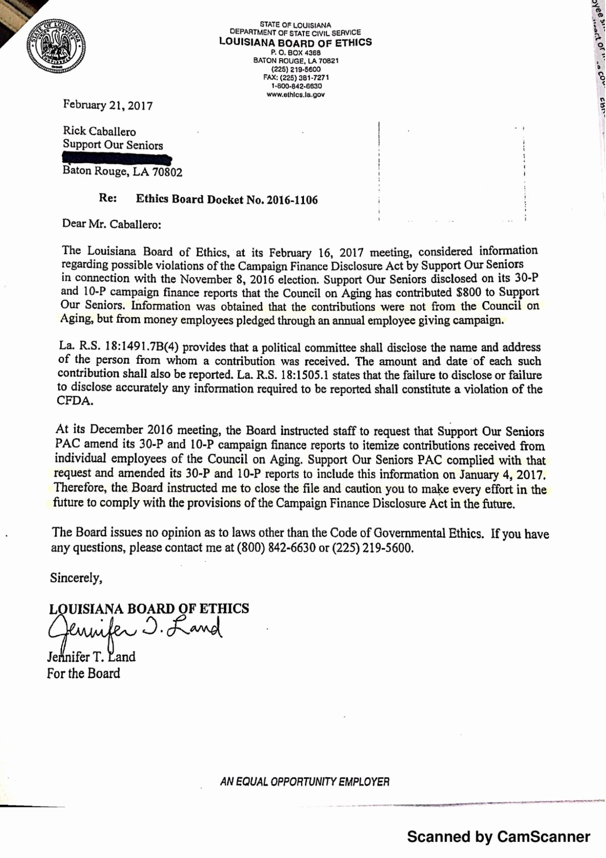 Conflict Of Interest Letter Lovely Council On Aging Board Takes Action to Clean Up Mud D
