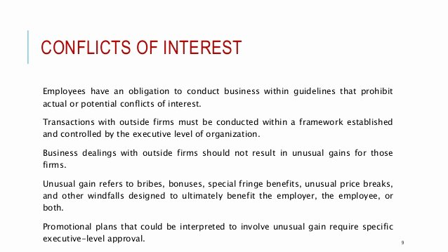 Conflict Of Interest Letter Lovely Professional Ethical Conduct