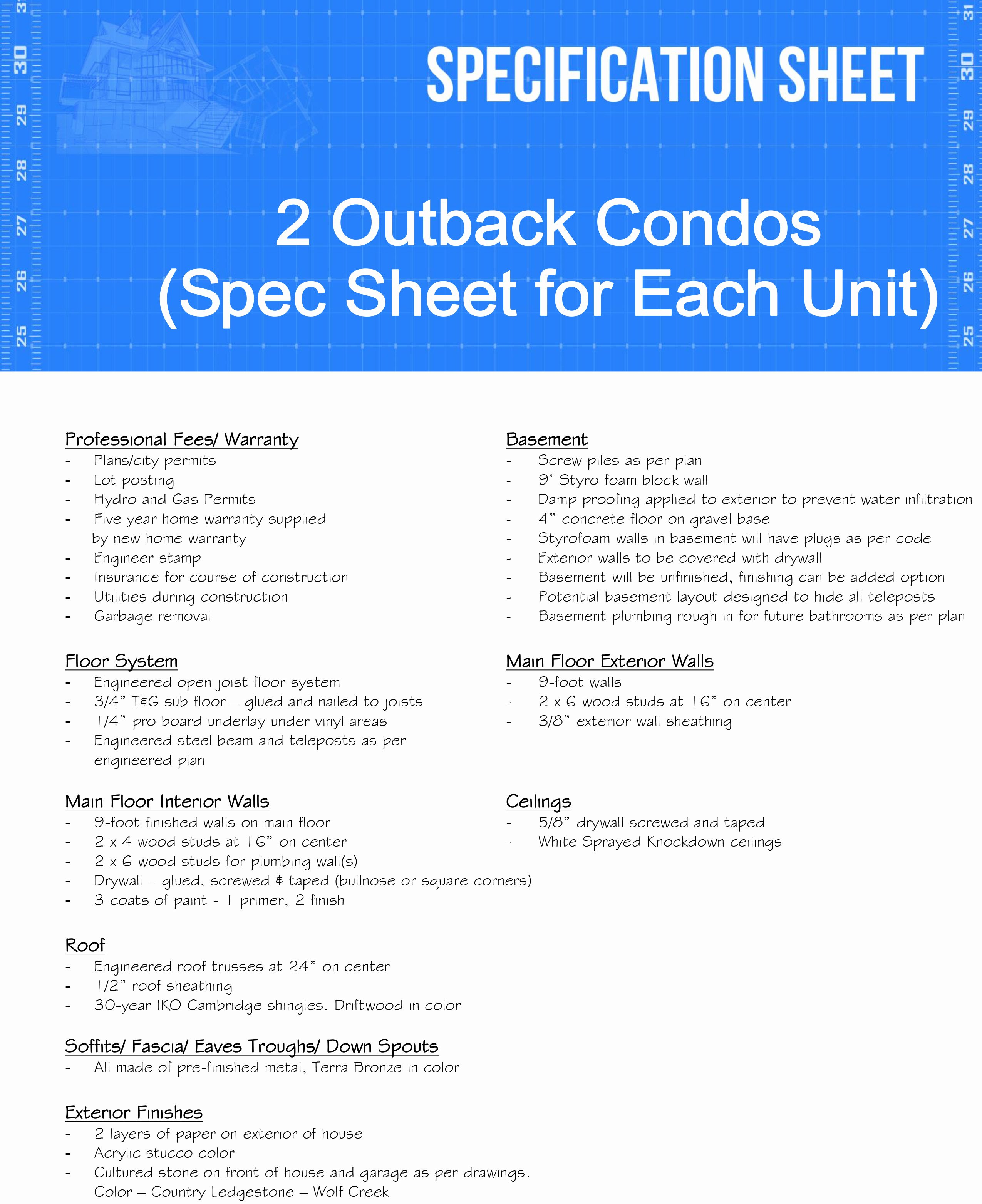 3 questions ask residential construction spec sheet template roof