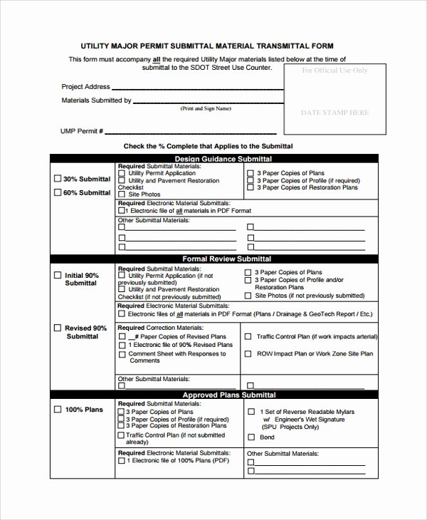 Construction Transmittal Template Fresh 8 Sample Submittal Transmittal forms Pdf Word