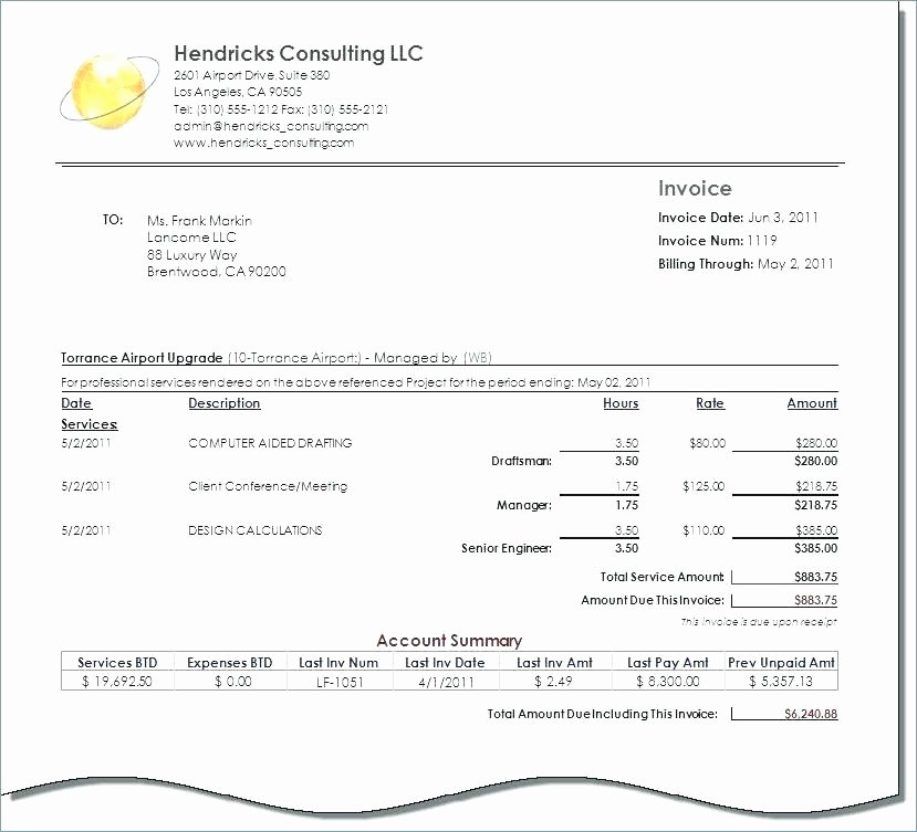 Consulting Invoice Template Word Beautiful 15 Independent Contractor Invoice