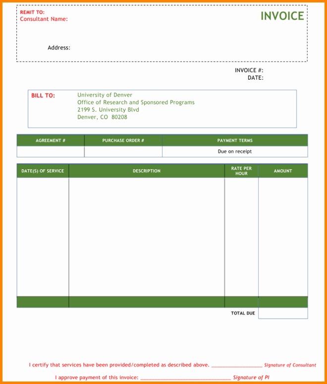 Consulting Invoice Template Word Unique 5 Consultant Bill format In Word