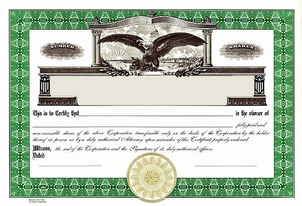 Corporate Seal Template Word Best Of Stock Certificates Llc Certificates Certificates