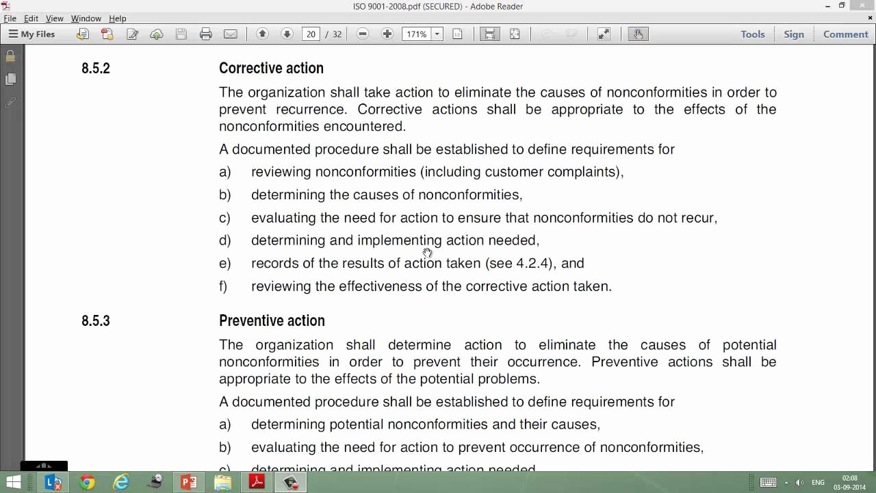 Corrective Action Preventive Action Template Beautiful Video On iso 9001 Clause 8 5 2 Corrective Action