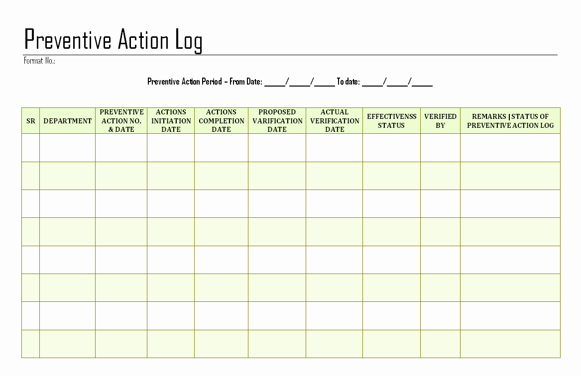 Corrective Action Preventive Action Template Fresh Download Easy Free Download Excel Ke Pdf