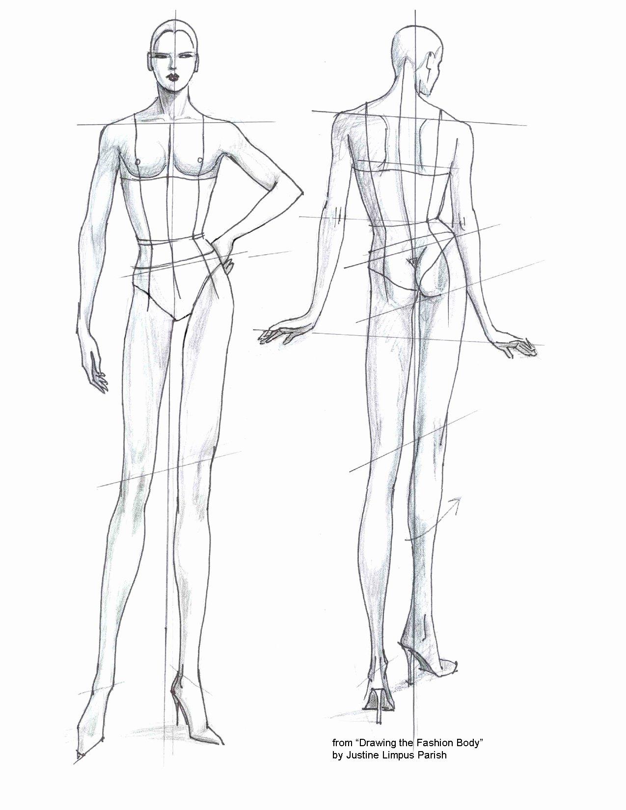 Costume Design Template Male Elegant Fashion Templates