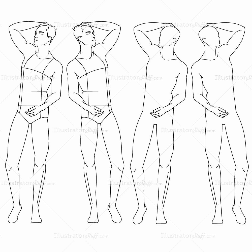 Costume Design Template Male Inspirational Male Fashion Croquis Template – Templates for Fashion