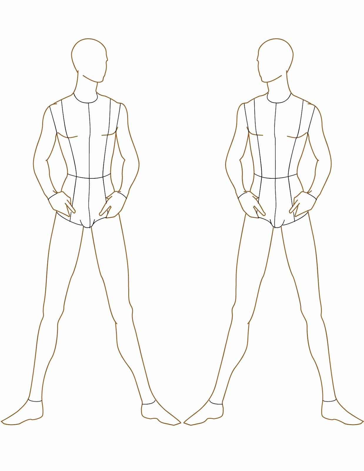 Costume Design Template Male New Fashion Studio Fashion Templates
