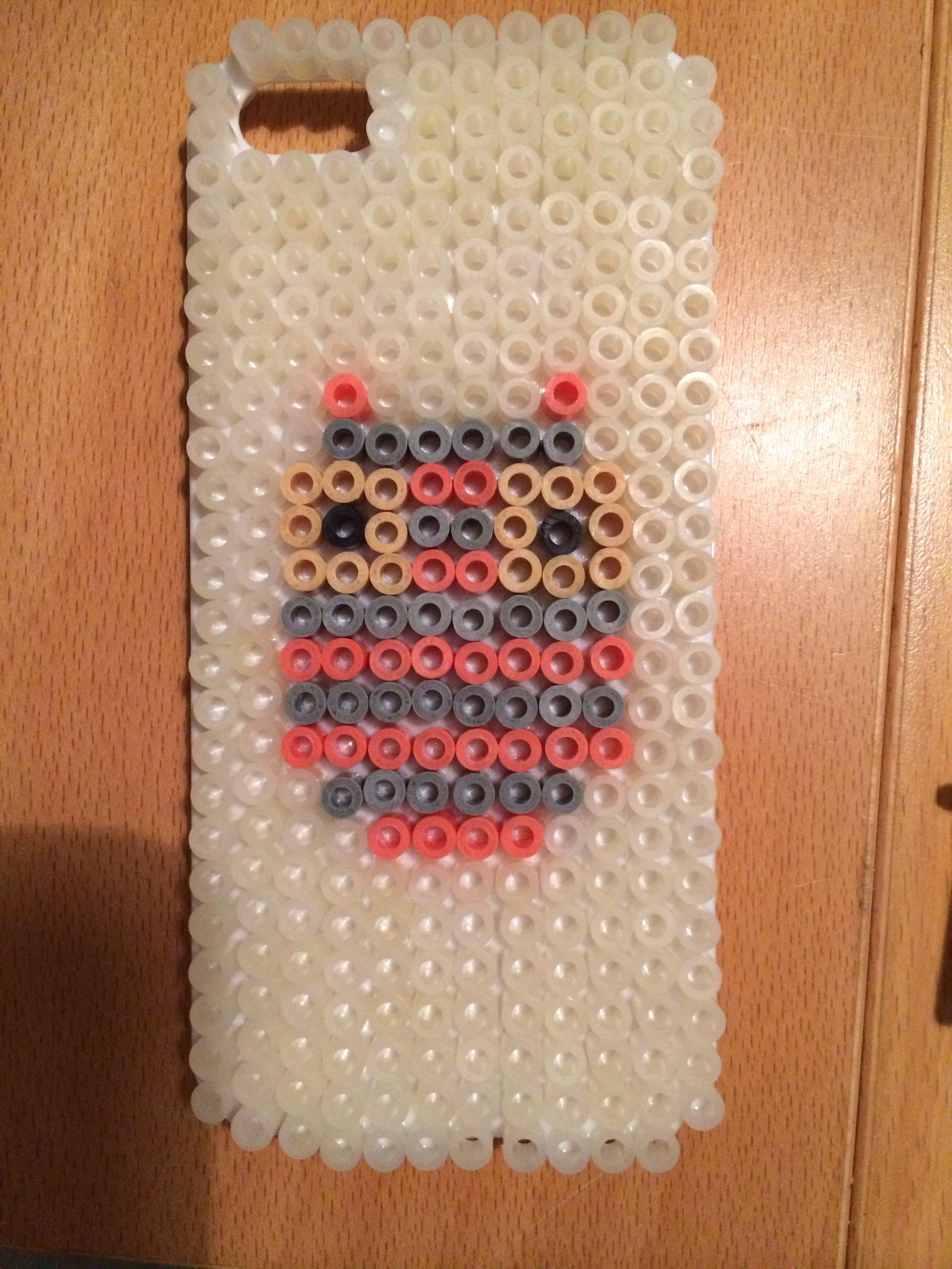 Crab Rave Template Elegant Hama Beads Perler iPhone 5 5s Case Cover