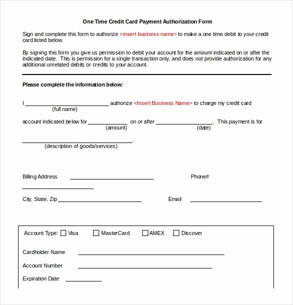 Credit Card Authorization form Word Unique 12 Free Download Credit Templates Microsoft Word 2010