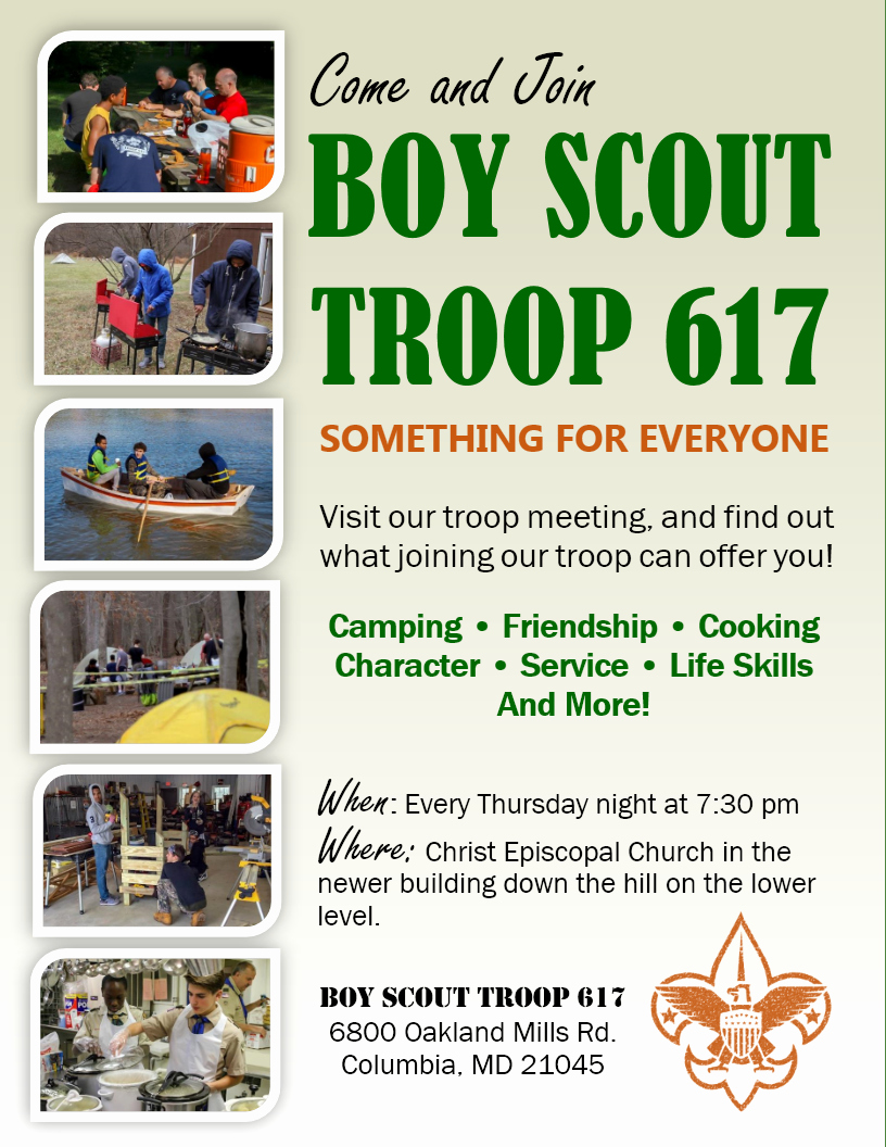 Cub Scout Flyer Template New Troop 617