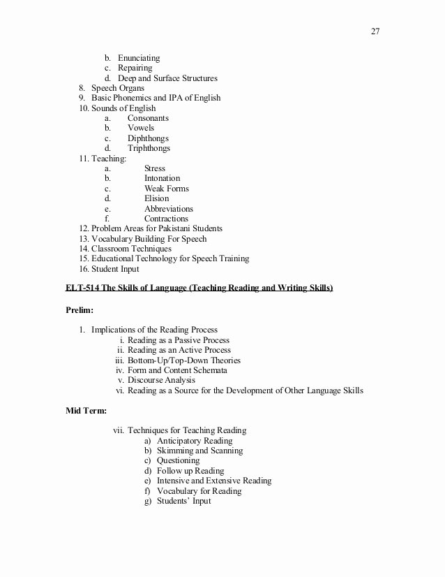Current event Paper Outline Lovely Speech and Language Evaluation Outline Language and Students