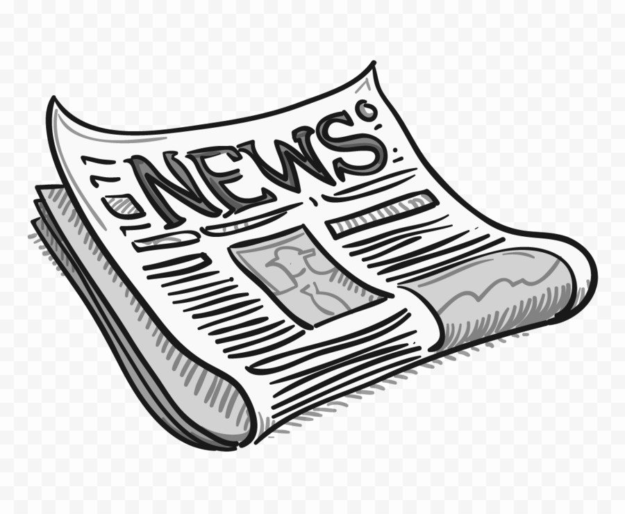 Current events Paper Outline Inspirational Newspaper Editorial Cartoon Clip Art Headline Png