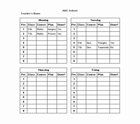 Cute Class Schedule Maker Awesome College Timetable Maker