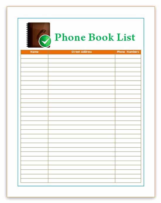 Cute Printable Address Book Best Of Best S Of Phone Book Template Cute Cute Printable