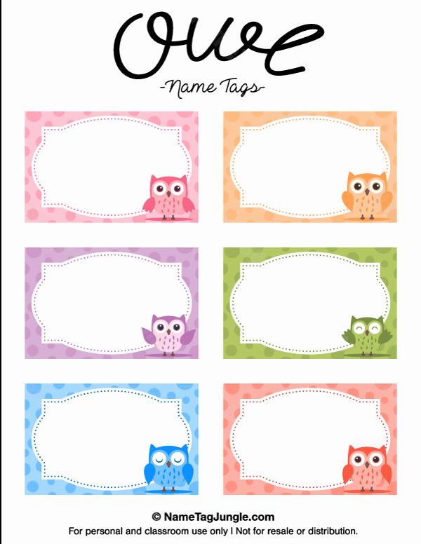 Cute Printable Address Book Inspirational Printable Owl Name Tags