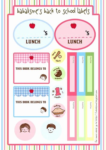 Cute Printable Address Book Lovely Babalisme Back to School Labels