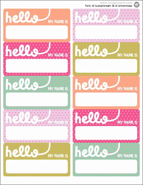 Cute Printable Address Book New Freebie Friday Hello Name Tags