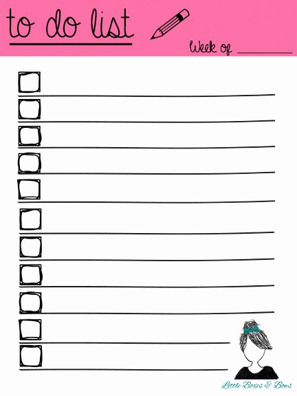 Cute to Do List Template Word Inspirational to Do List Printables